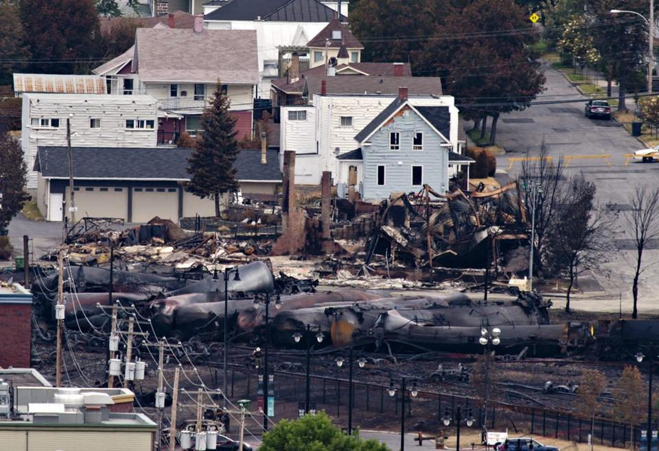 Investigators are looking for the cause of the oil train derailment Saturday, but say they have ruled out terrorism.