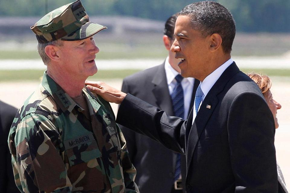 President Obama met with Navy Vice Admiral William H. McRaven after the mission killed Osama bin Laden.