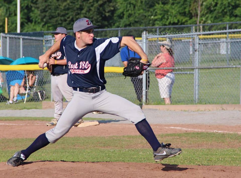 Hard-working Danvers Post 180 pitcher Mike Driscoll will attend Northeastern University this fall.