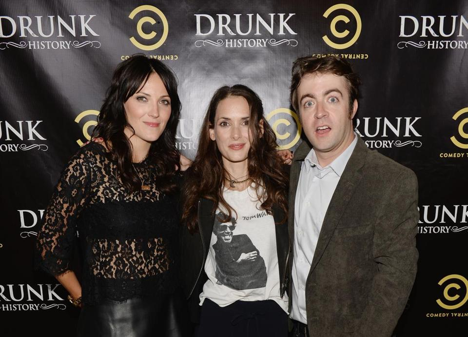 Jen Kirkman (left), Winona Ryder, and Derek Waters at the premiere.
