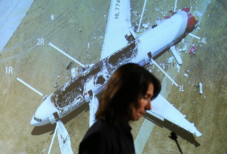 Deborah Hersman, the NTSB head, briefed reporters on Thursday. NTSB officials are wrapping up their efforts in San Francisco and preparing to return to Washington.
