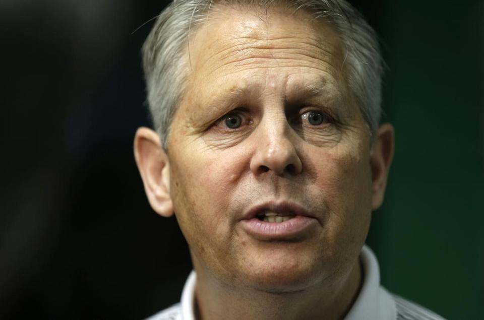 Celtics boss general Danny Ainge is hitting back at the perception that his team will not be competitive next season.