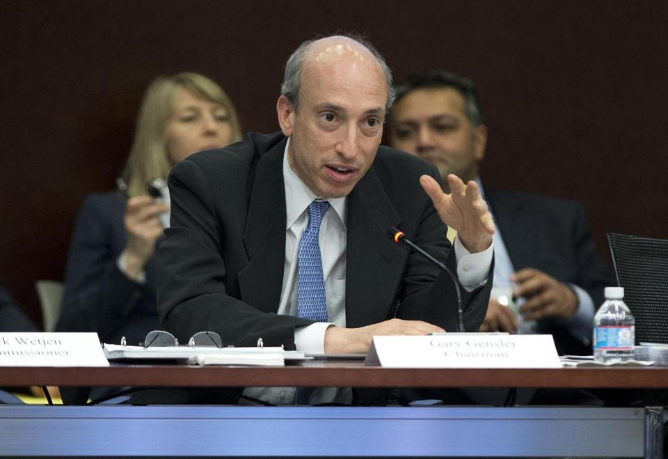 Chairman Gary Gensler at an April meeting. He wanted to extend the CFTC's reach now.