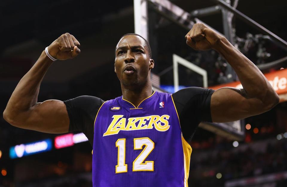 Dwight Howard will trade in his Lakers jersey for a Rockets jersey.