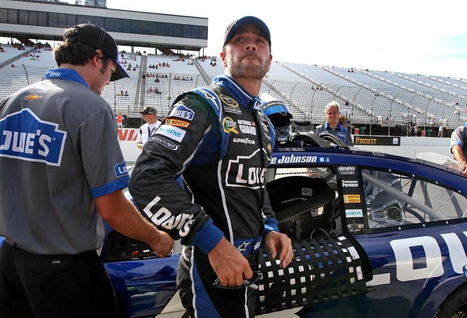 Five-time champion Jimmie Johnson will start the race from the back of the pack of 43 drivers.