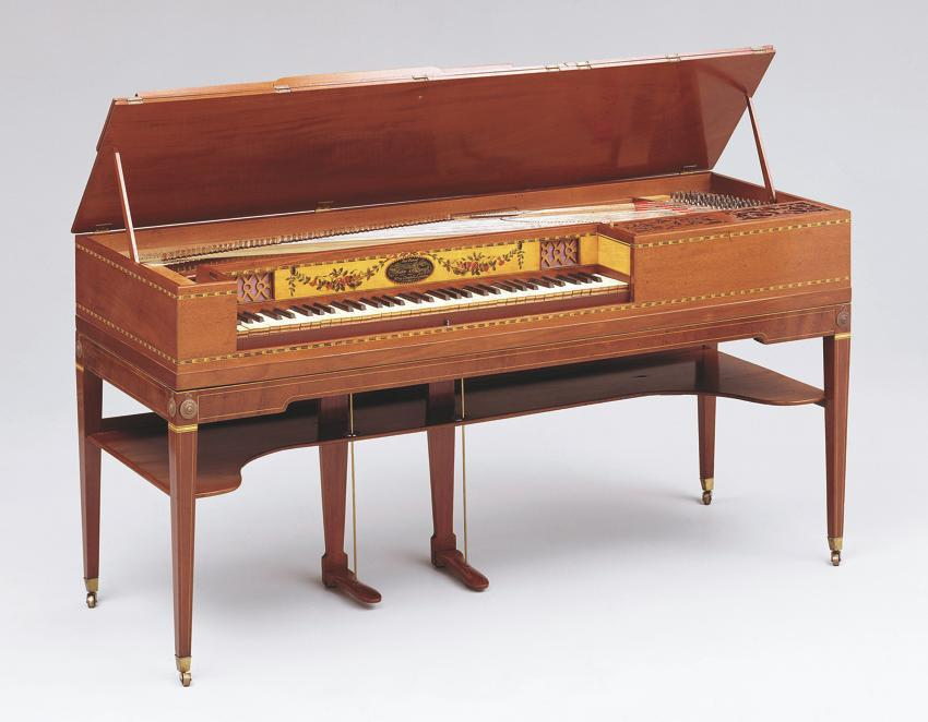 A circa 1805 George Astor & Co. square piano in the Museum of Fine Arts collection.