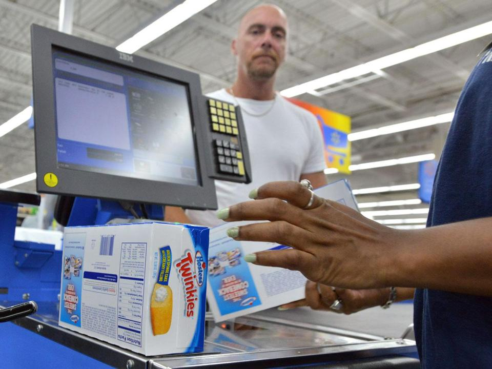 Harry Maccardell of Quincy bought a box of Twinkies, along with a box of Hostess CupCakes, at Walmart in Quincy.