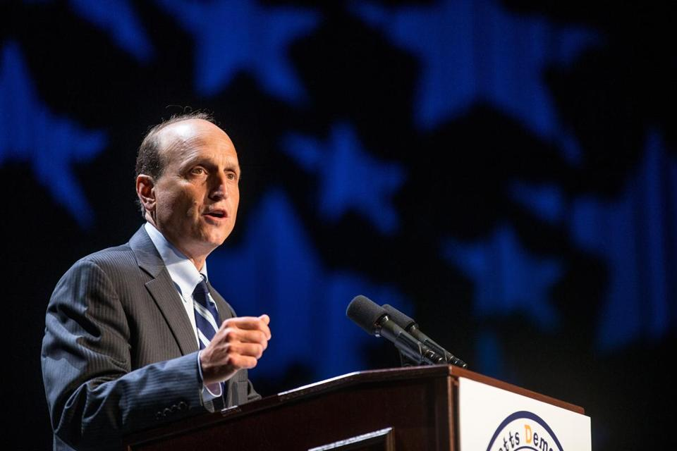 Dan Wolf speaks during the 2013 Massachusetts Democratic Party Platform Convention.