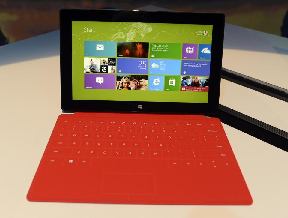 IDC says Microsoft shipped about 900,000 tablets in the first quarter.