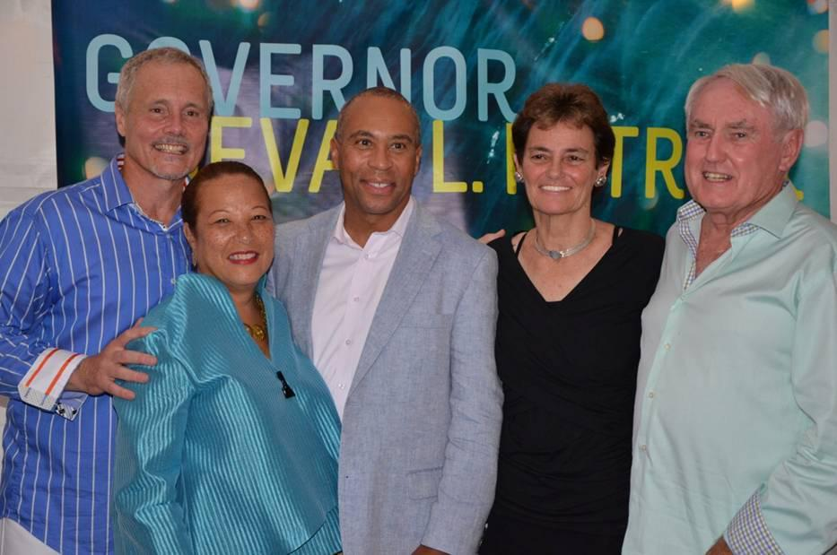 From left: Michael Roberts, Diane and  Deval Patrick, Margaret Murphy, and Daniel Mullin.