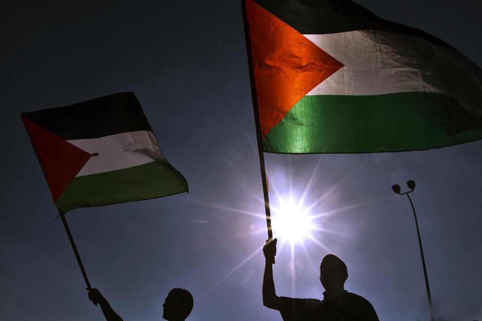 Palestinians on Monday rallied against Israel's plans to relocate Negev desert Bedouins.