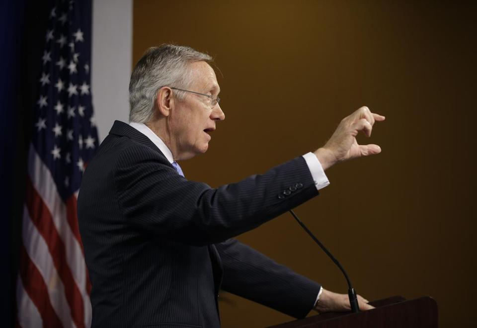 """Circumstances dictate the need for change,"" Harry Reid, Senate majority leader, said in a speech Monday."