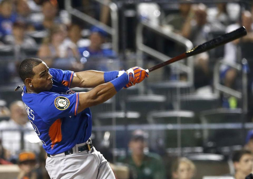Yoenis Cespedes hit 32 homers — 17 in the first round — to become the first player not selected to the All-Star Game to win the derby.
