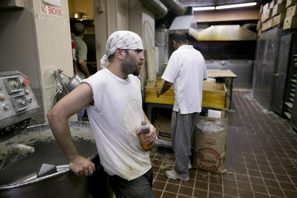 "After work, head baker Aldo Parziale of Parziale's Bakery will go home and take ""a really long cold shower."""