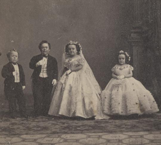 The wedding of Tom Thumb and Lavinia Warren in 1863 was a huge news event that pushed the Civil War off newspaper front pages.