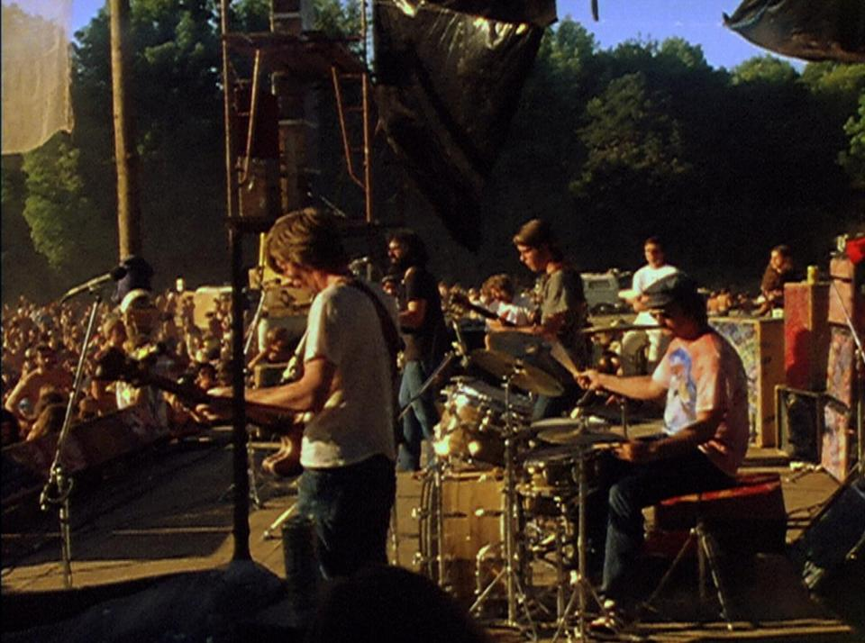 "The Grateful Dead performing in Veneta, Ore., in 1972. The concert has been made into the movie ""Sunshine Daydream."""