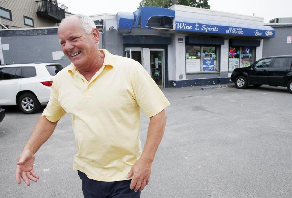 Stephen Rakes greeted an acquaintance on June 6, 2013 outside the liquor store he once owned in South Boston.