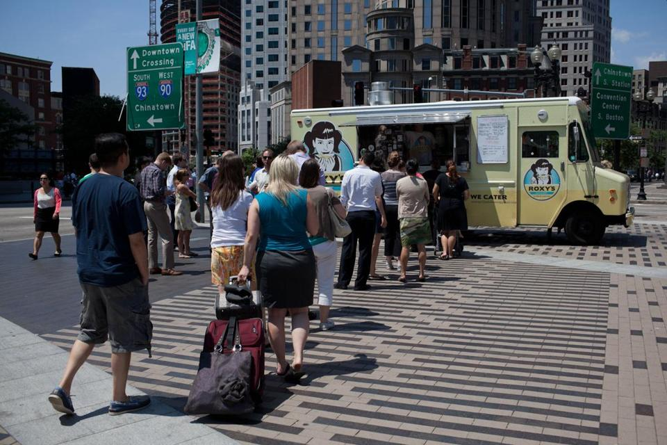 Roxy's was busy despite a heat wave and the temporary shutdown of Clover Food Labs' trucks.