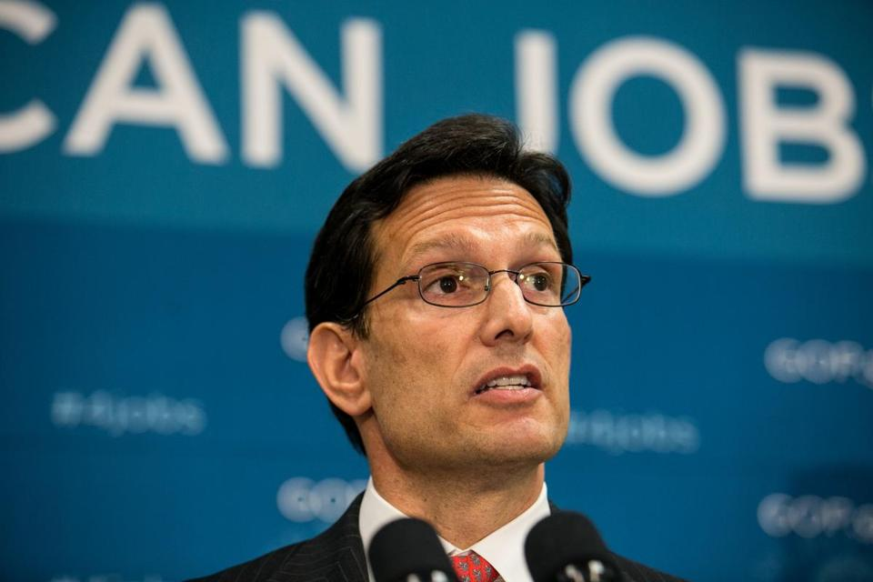 WASHINGTON, DC - JULY 9: House Majority Leader Rep. Eric Cantor (R-VA) speaks during a press conference, on Capitol Hill, July 9, 2013 in Washington, DC. The Republican leadership discussed the immigration bill and the Obama administration's decision to delay a portion of the Affordable Care Act, which will extend the deadline for employer mandated health care to 2015. (Photo by Drew Angerer/Getty Images)