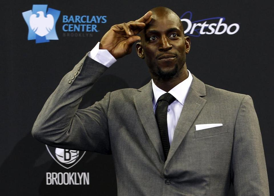 """New things to embrace, and that's what I'm doing,"" said former Celtics player Kevin Garnett."
