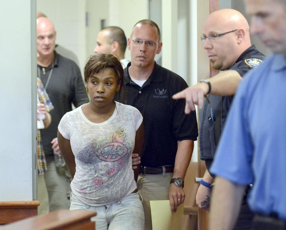 Audrea Gause, 26, of Troy, N.Y., was led into court on Friday, July 19, 2013.