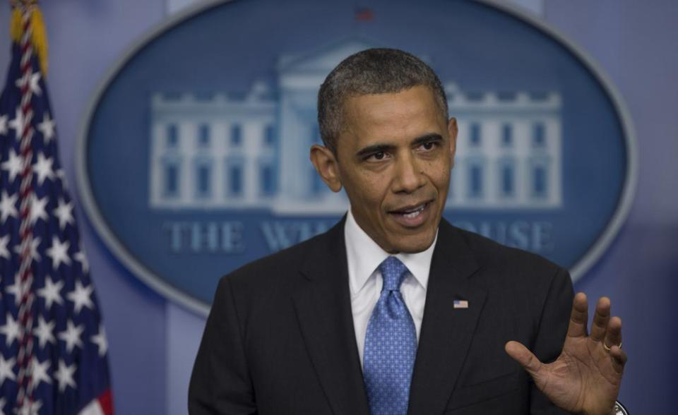 President Obama made a surprise appearance at the White House daily news briefing on Friday.