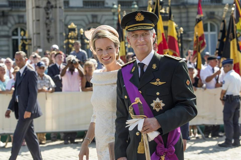 Belgium's new king, Philippe I, with his wife Queen Mathilde, took the oath as the country's seventh monarch Sunday.