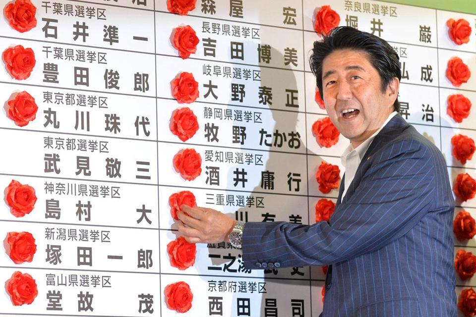 With a landslide victory Sunday, Shinzo Abe's Liberal Democratic Party controls both houses of Parliament.