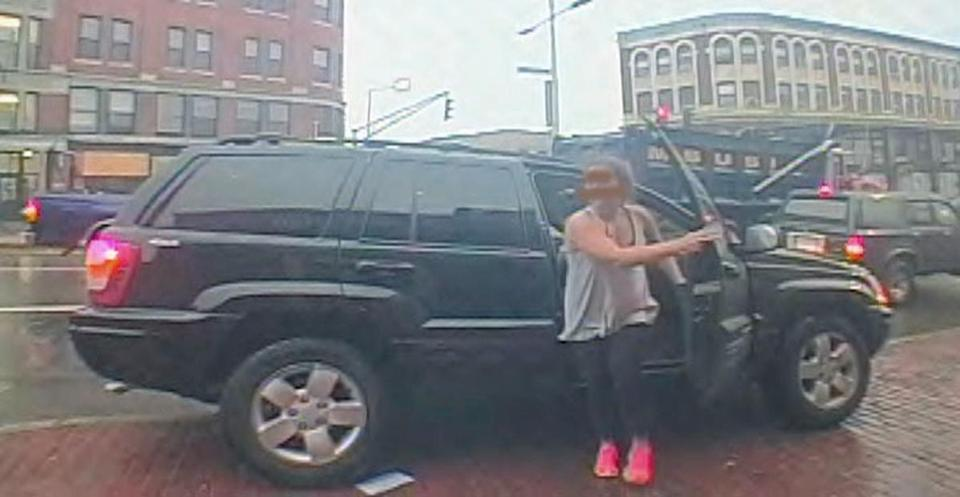 Lord and her vehicle were captured on surveillance video Tuesday.