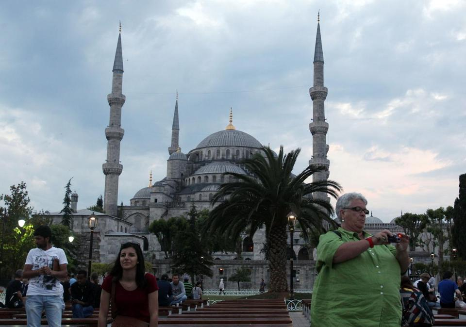 A view of the Blue Mosque in Istanbul. The country has been among the world's most popular tourist destinations and also serves as a direct link with other countries.