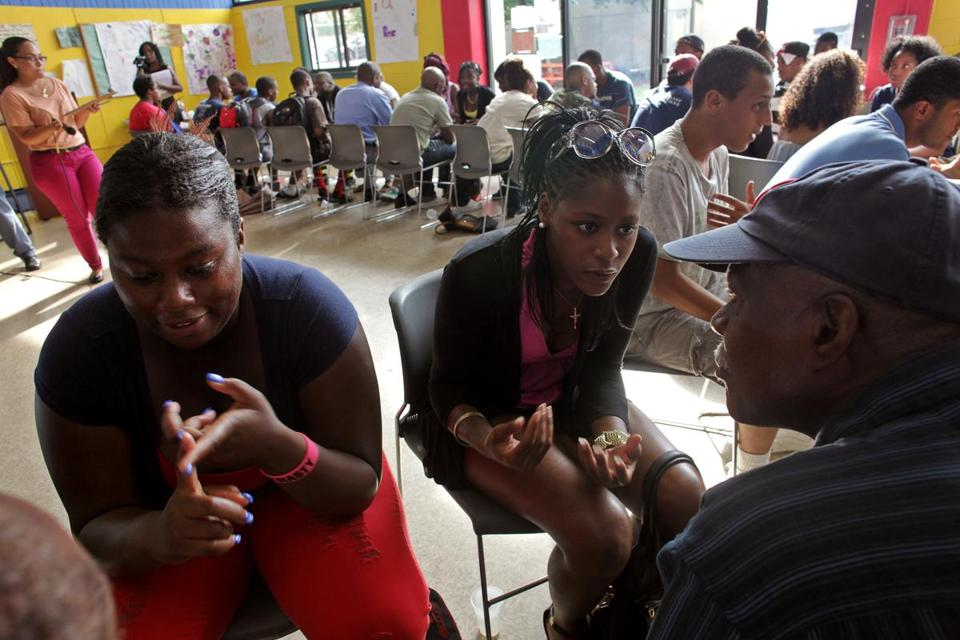 At a Roxbury forum, teens brainstormed ideas on how to make city living easier.