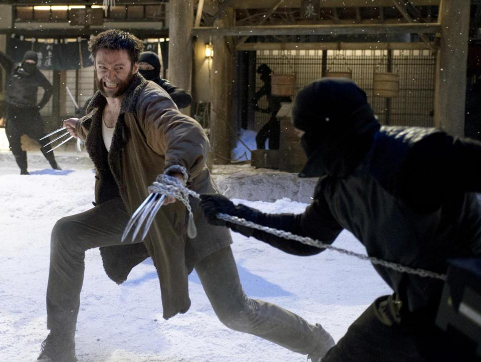 "Hugh Jackman plays the claw-wielding superhero in ""The Wolverine."""