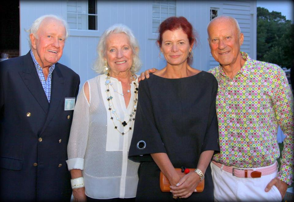 from left jeremy and friederike biggs lady elena and lord norman foster at the