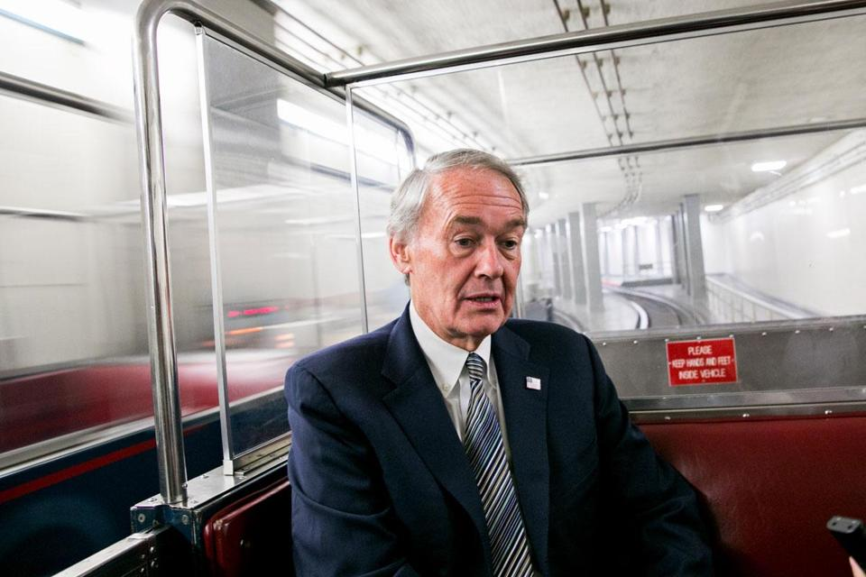 Edward Markey, on the Senate subway, is navigating new corridors and customs.