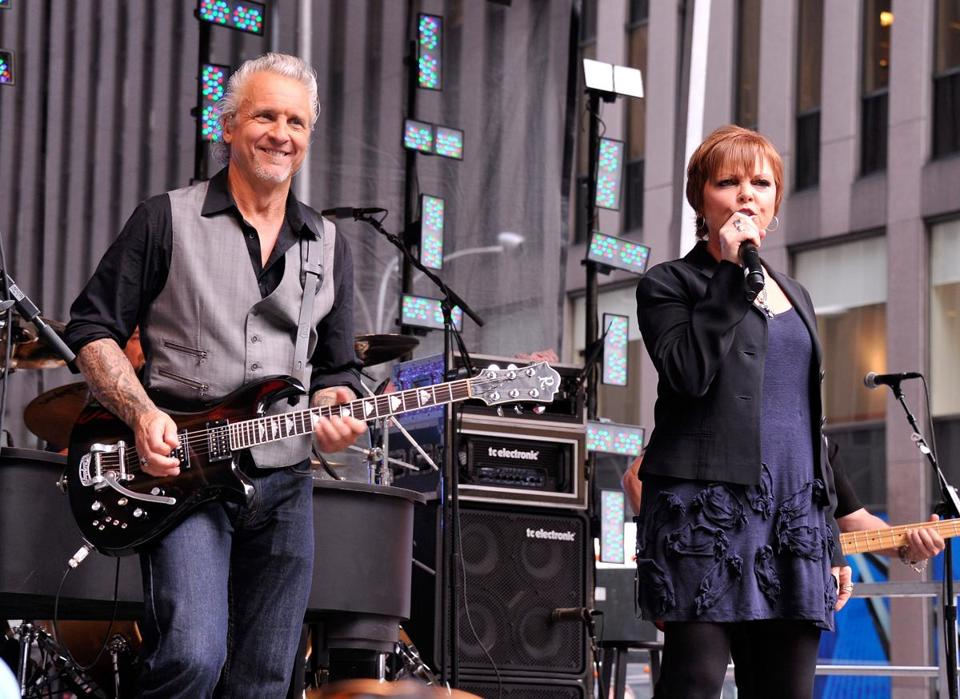 Pat Benatar and her husband, Neil Giraldo, pictured here performing in New York last year, are in their fourth decade of marriage.