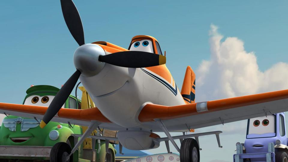 "Dusty the crop duster in ""Planes"" is voiced by Dane Cook."