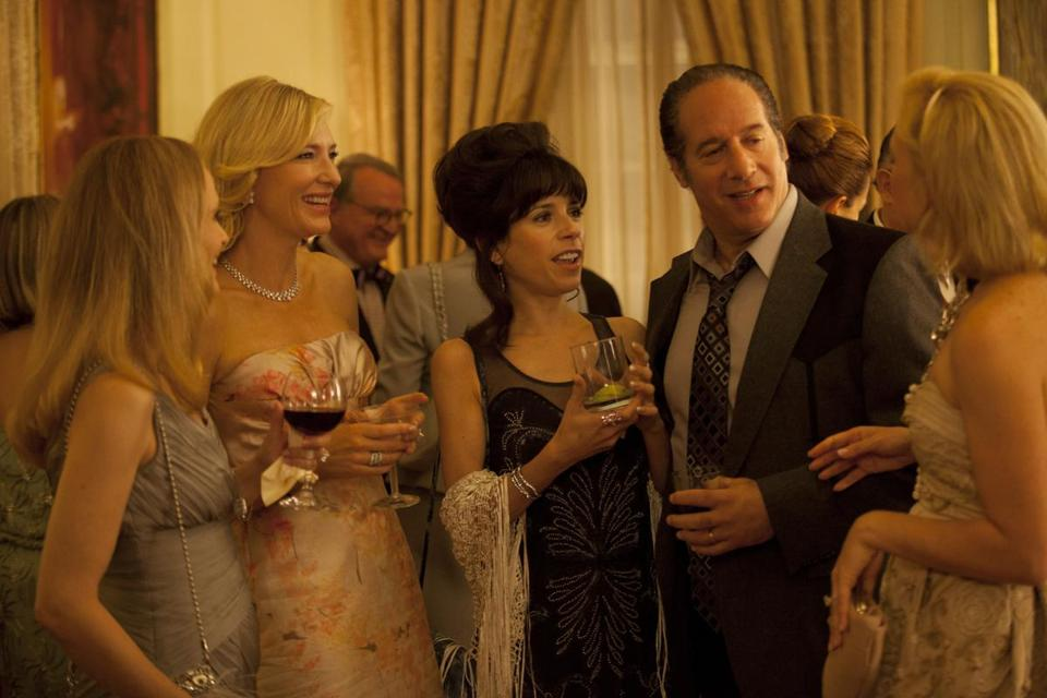 Cate Blanchett (second from left, with Sally Hawkins and Andrew Dice Clay) stars as a rich woman who loses everything.