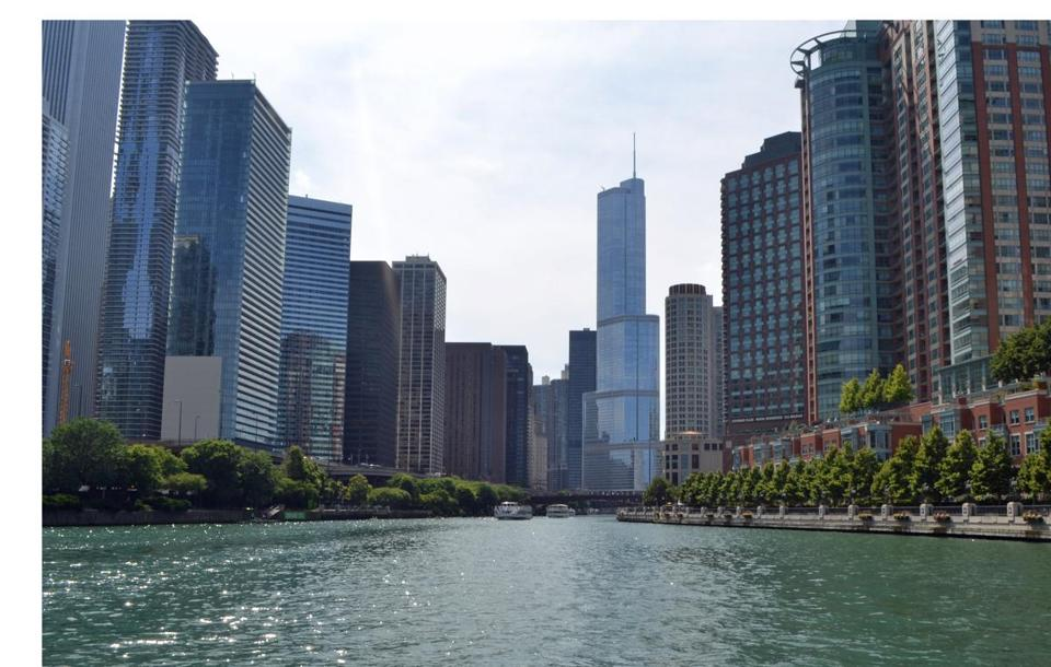 The Chicago River is a system of rivers and canals that offers a  route for touring the city's world-famous architecture.