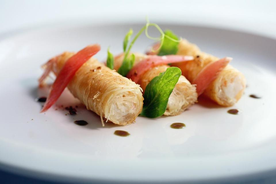 A plate of langoustines.
