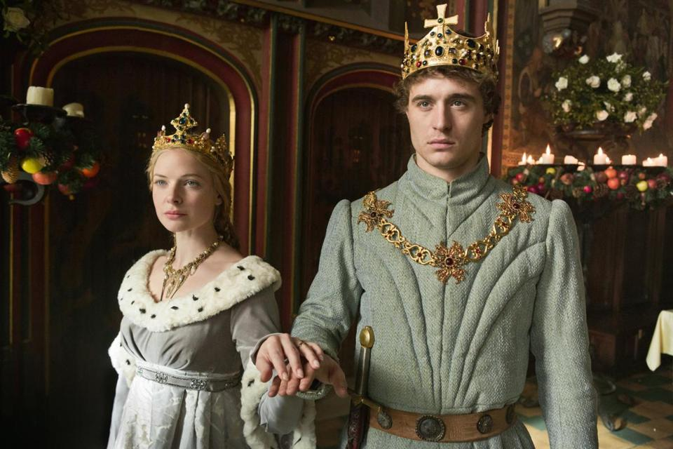 "Rebecca Ferguson and Max Irons star in the British period drama ""The White Queen"" on Starz."