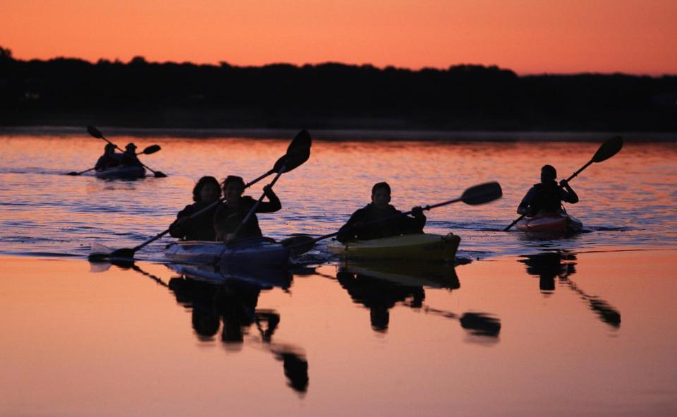 Kayaking tours of Boston Harbor are at World's End.