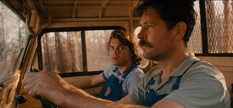 "Emile Hirsch (left) and Paul Rudd in ""Prince Avalanche."""