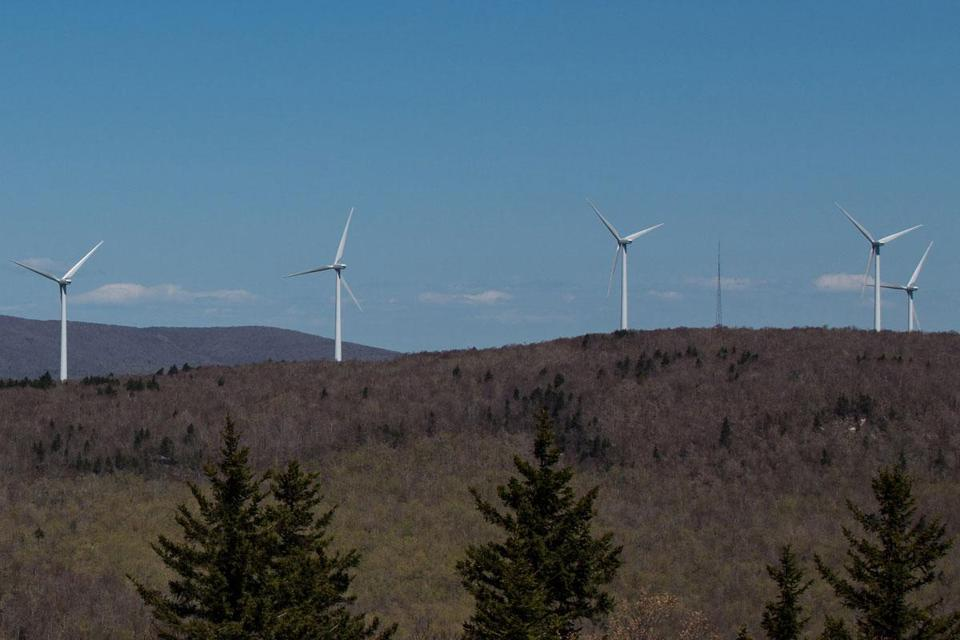 The closest house sits 1,650 feet or just over 0.3 miles from a Hoosac Wind turbine.