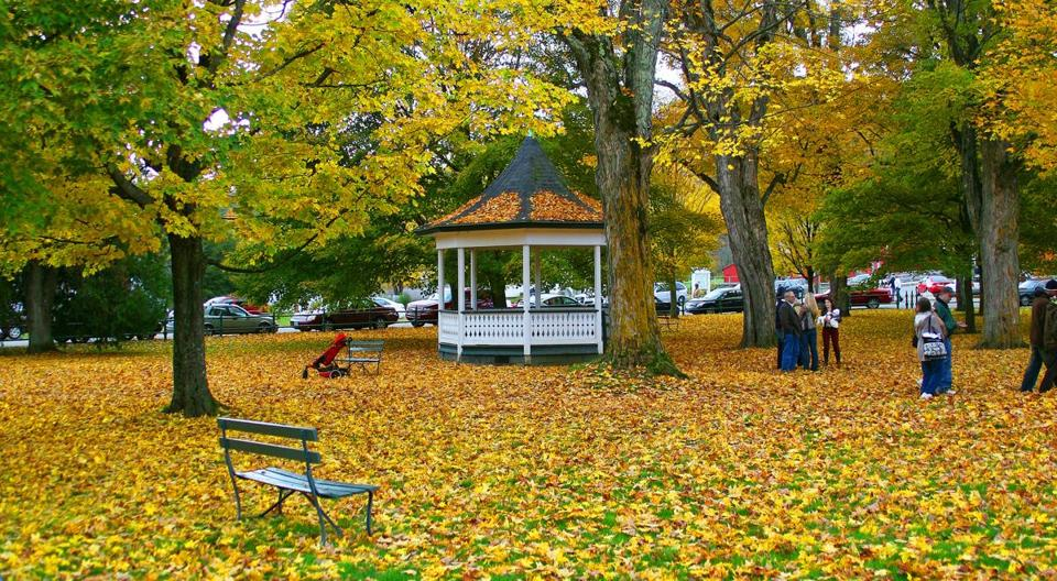The Weston, Vt., town green's Victorian bandstand evokes a more gracious age.