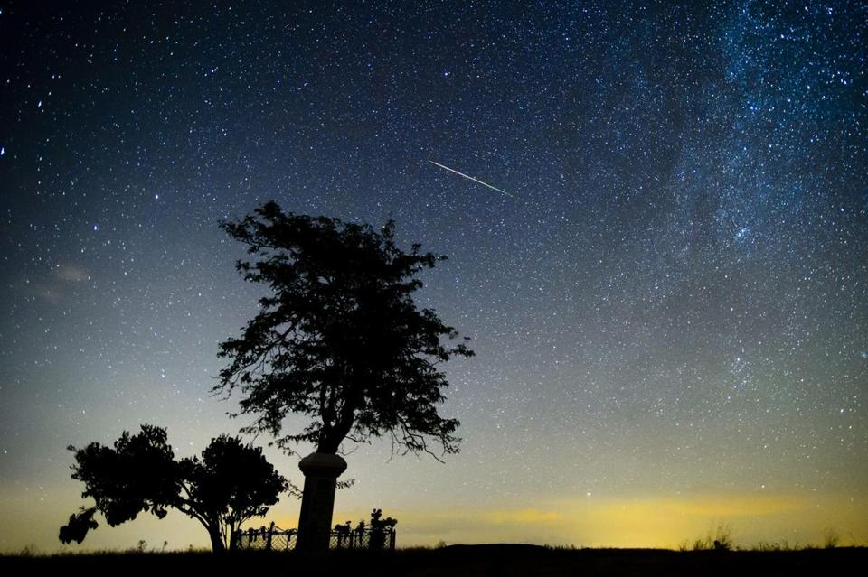 A shooting star from the Perseids flew over Hungary last year.