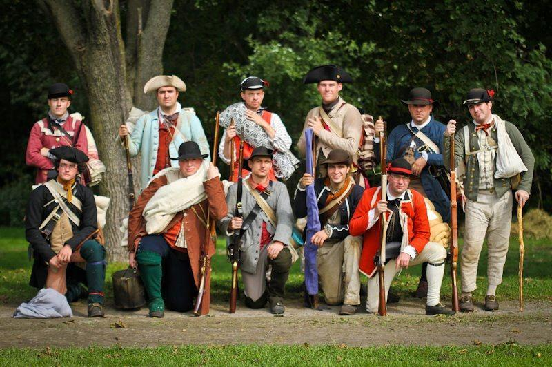 McAlpin's Corps of Loyal American Volunteers, seen mixing with members of the Queen's Own Loyal Virginia Regiment at a Fort Ticonderoga event, will be in Quincy on Saturday.