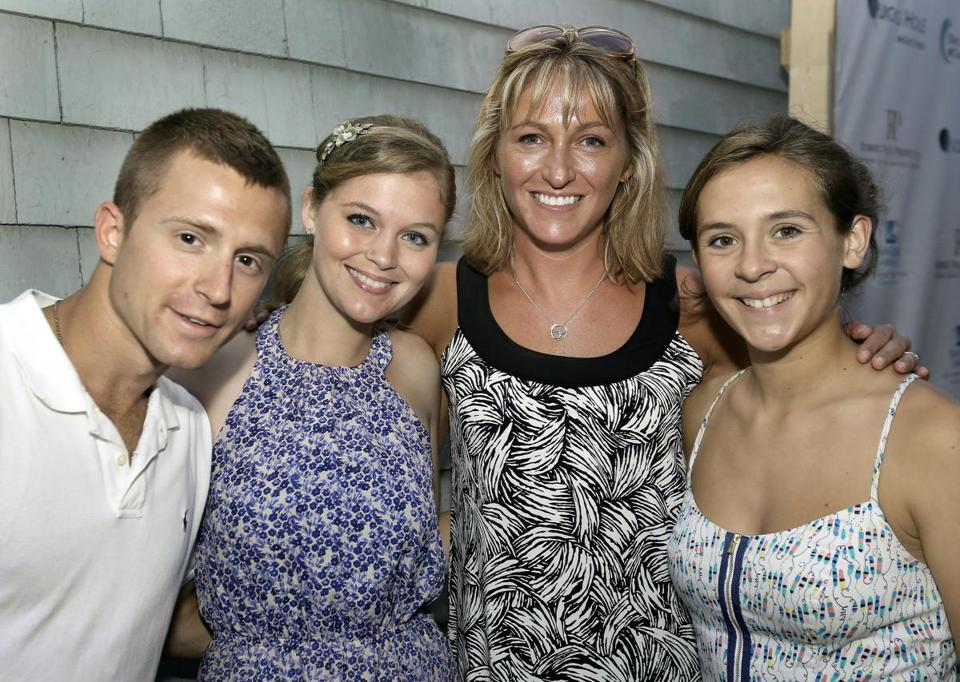From left: Kyle Grotevant and Kaylee Costa, both of Sanwich, Marci Tyldesley of Brewster, and Ryan Ackell of Falmouth.