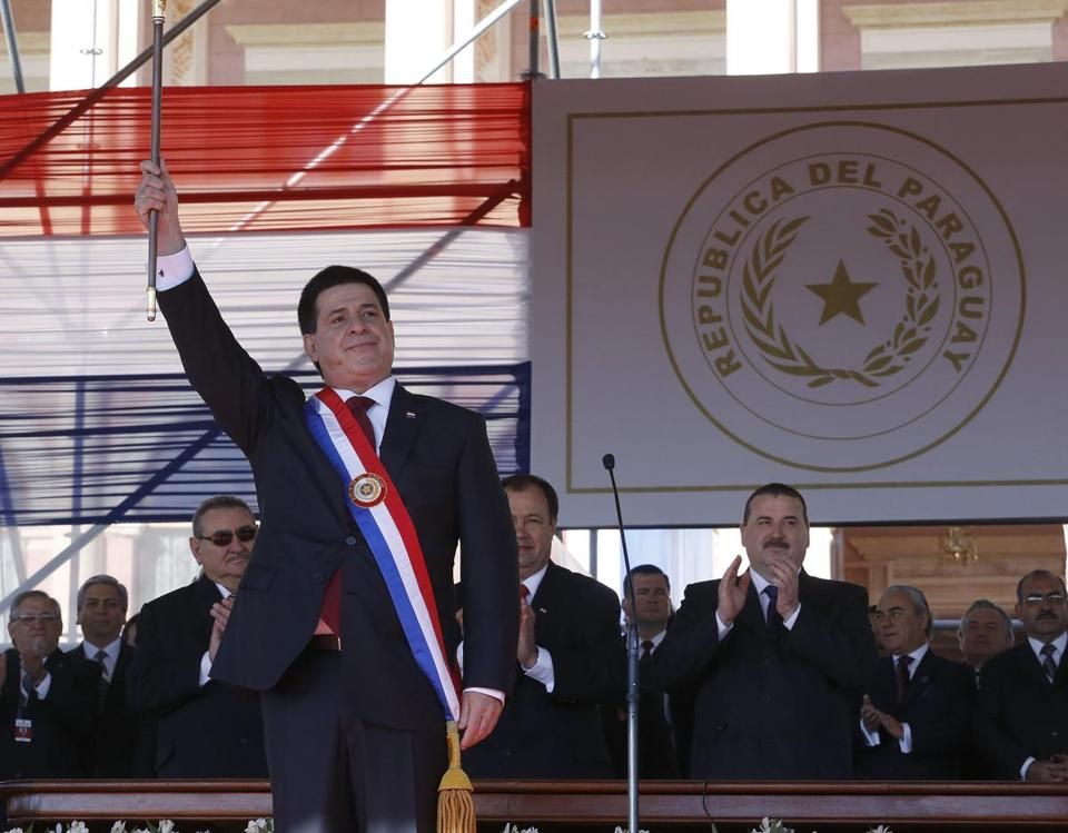 Horacio Cartes also promised to strengthen Paraguay's international ties and its commitment to human rights.