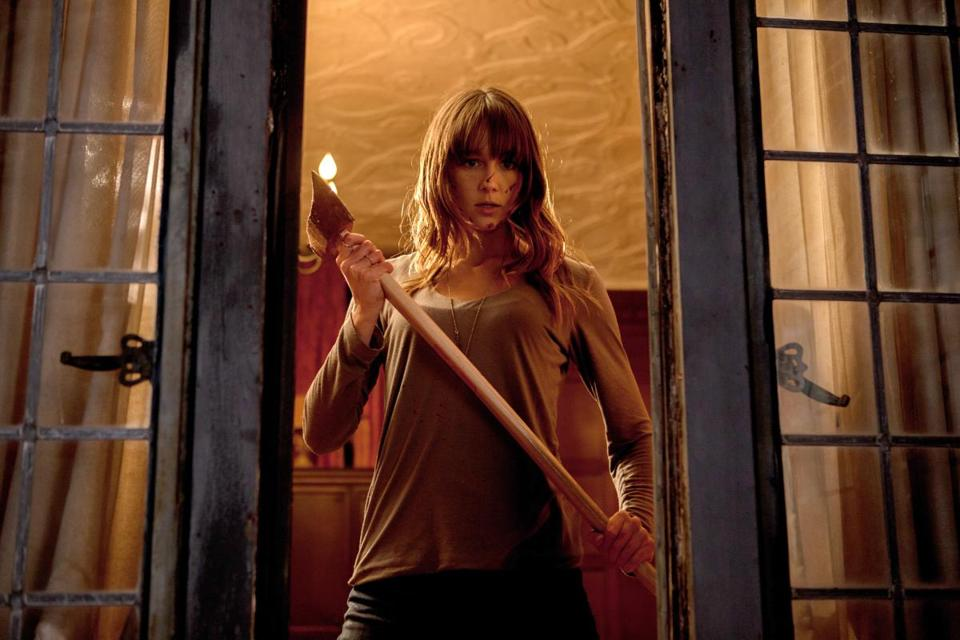 "Sharni Vinson stars as the girlfriend who accompanies her boyfriend to his family's party in ""You're Next."""