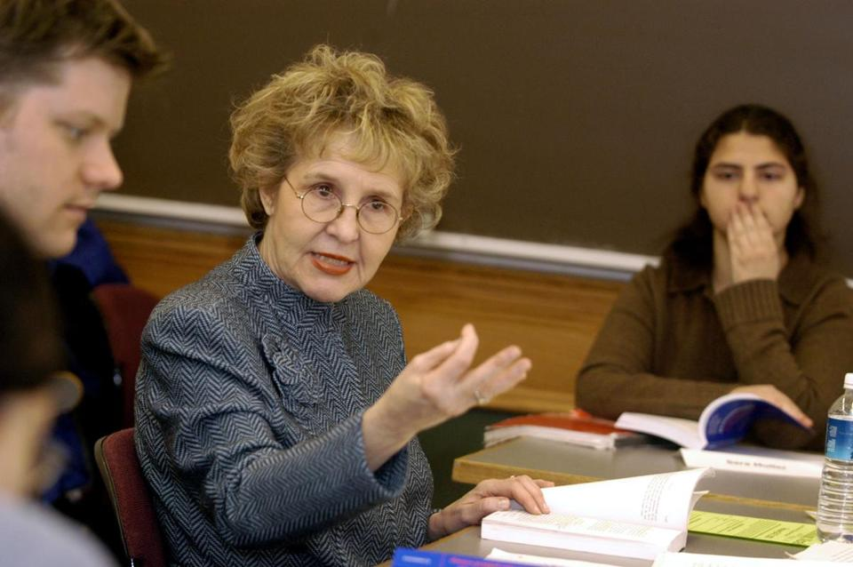 Jean Bethke Elshtain delivered a lesson in her classroom at the University of Chicago Divinity School in 2003.